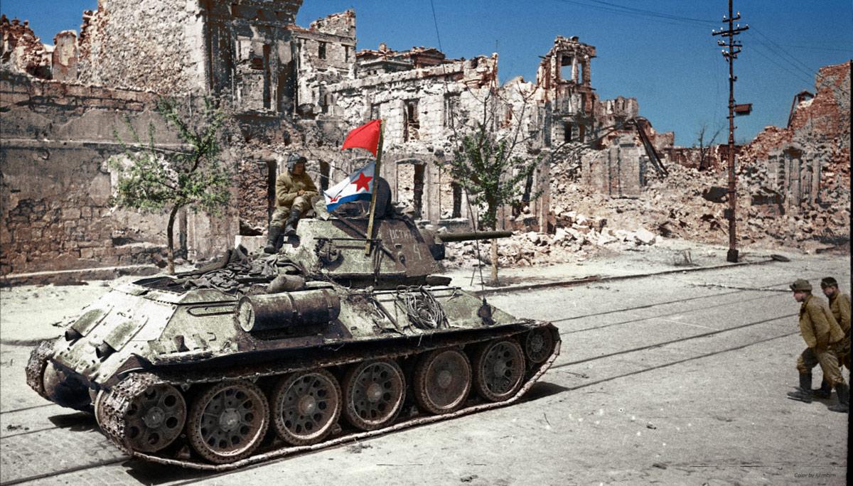 Освобождение Севастополя 9 мая 1944 года колоризация