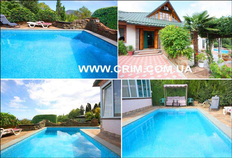 Снять дом в Гурзуфе с бассейном