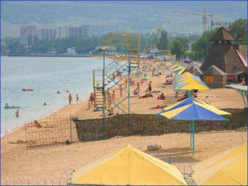 Феодосия. Пляж. Черноморская набережная