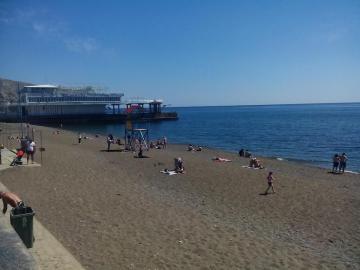 Городской пляж Судака