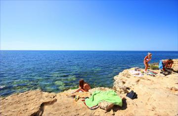 На диком пляже Казачки