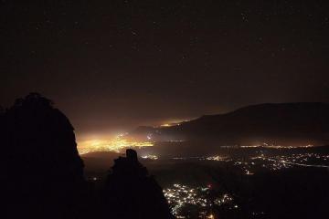 Ночная Алушта вид с гор
