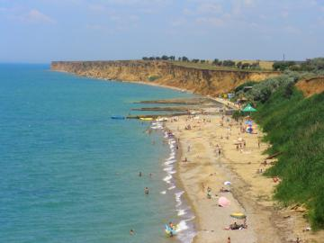 Пляжи Андреевки вид с высоты